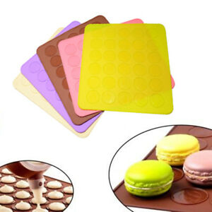 30-cavity-Silicone-Pastry-Cake-Macaron-Macaroon-Oven-Bake-Mould-Sheet-Mat-T-TG