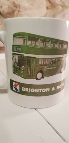 Brighton and Hove Bus Motor Services Cup Mug Daimler in full livery NBC group