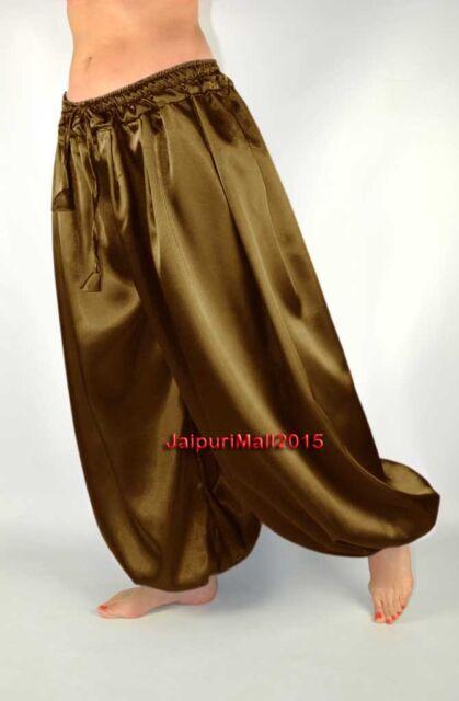 Black Chiffon Harem Yoga Pants Genie Boho Aladdin Belly Dance Trouser Pant S~3XL