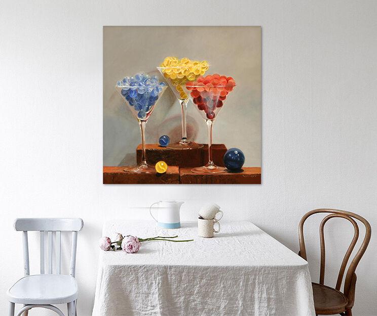 3D Glas Tasse Farbe Kügelchen 8 Fototapeten Wandbild BildTapete AJSTORE DE Lemon