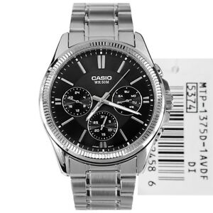 Casio-MTP-1375D-1-New-Original-Analog-Silver-Stainless-Steel-Mens-Watch-MTP1375D