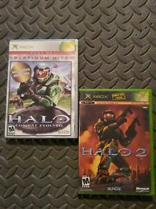 LOT-Halo-Combat-Evolved-Platinum-Hits-amp-Halo-2-Complete-Microsoft-Xbox