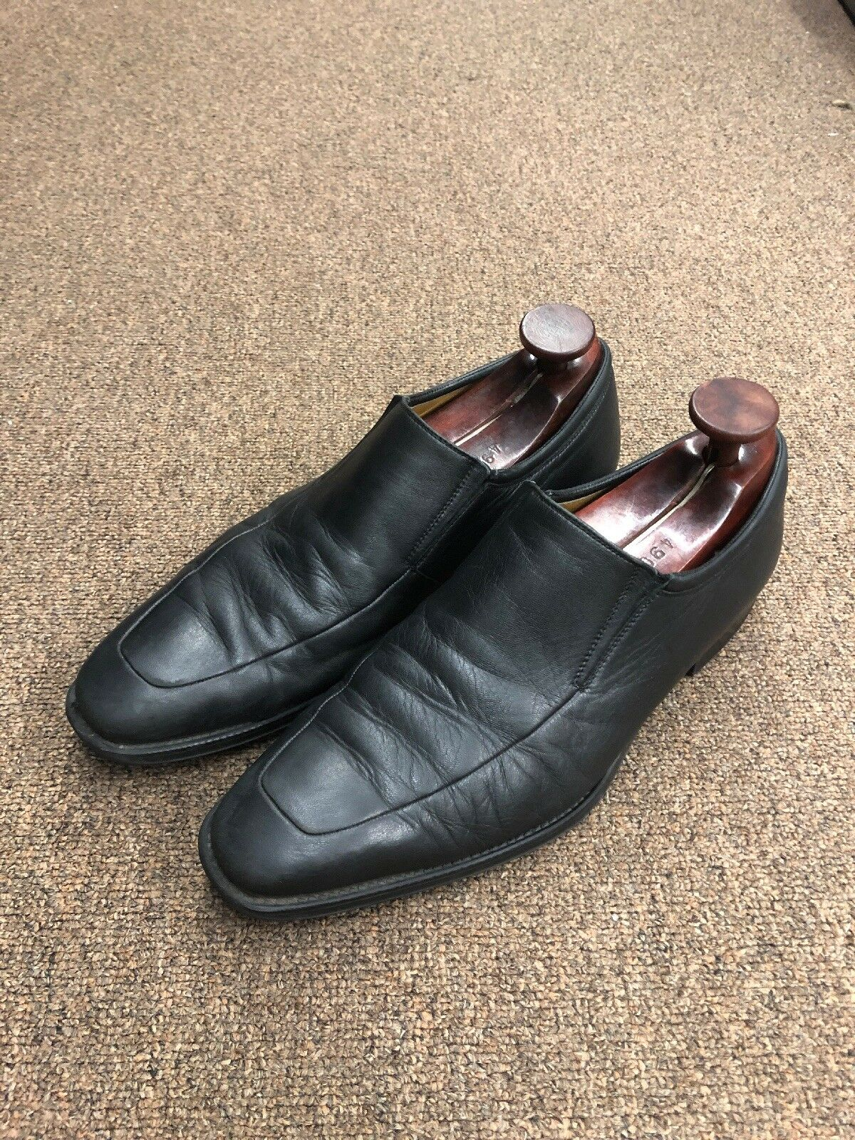 Magnanni Dress shoes Loafers Size 11 Black Leather Loafers Z-27