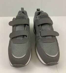 ez strider mens walking comfort gray casual shoes size 10