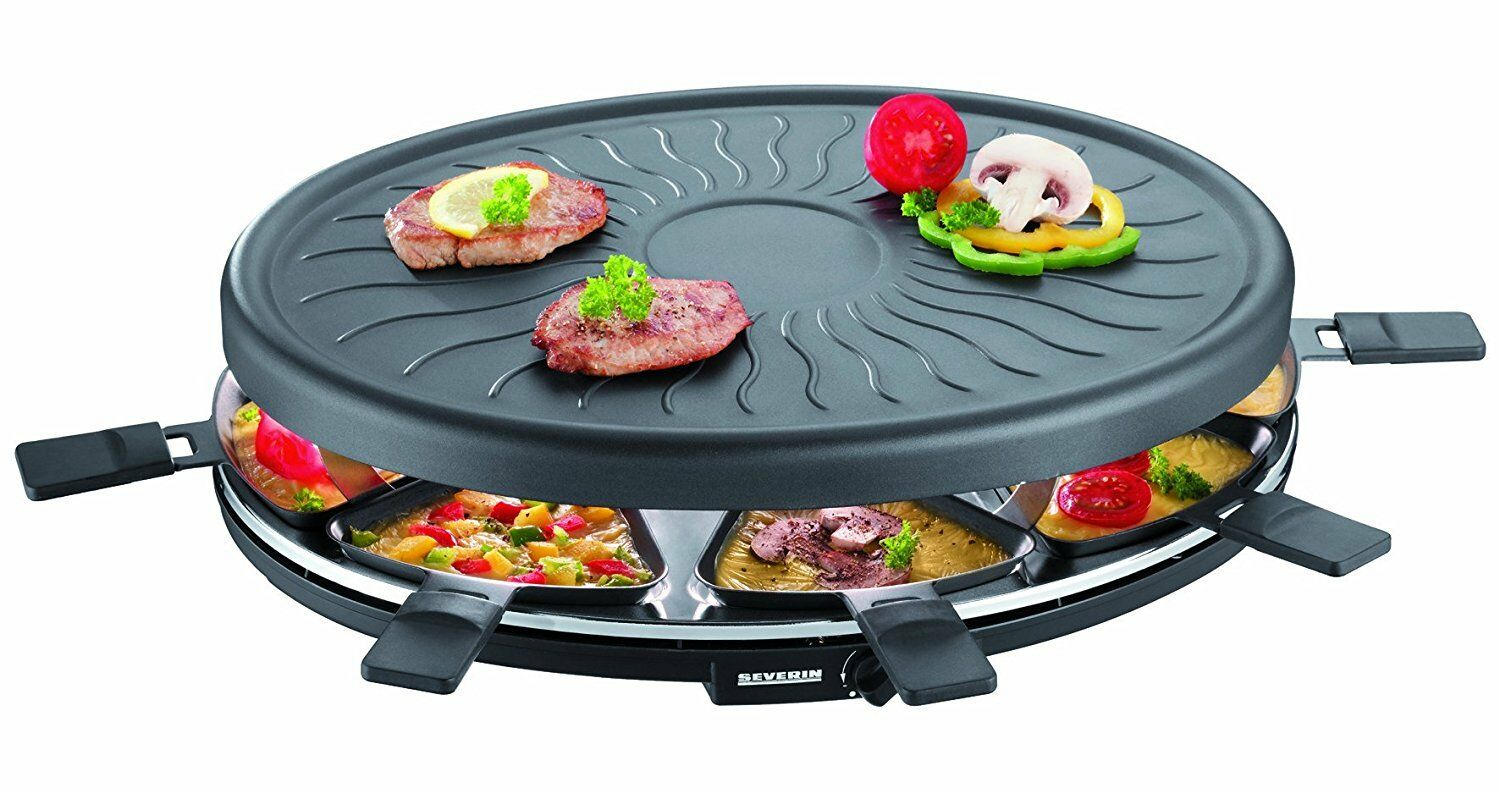 Barbecue Grill Party Grill with 8 Mini Pans Raclette Raclette Raclette 1100 W Severin RG 2681 New b8f63b