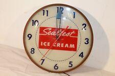 Vintage Sealtest Ice Cream Dealers Clock Pam Clock Co NY Lights Up Apr 1958