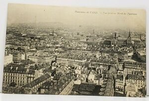 France-Panorama-View-Of-Paris-1907-to-Connecticut-Postcard-H7
