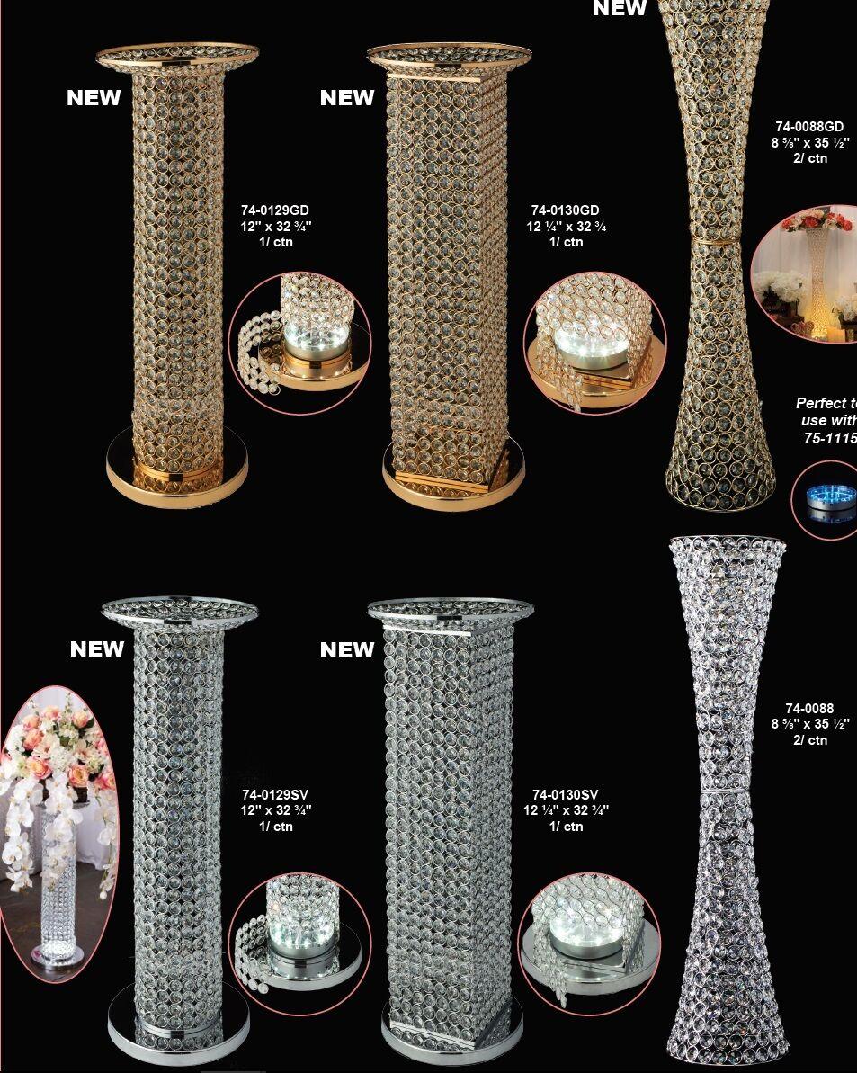 Jumbo Permanent Romain Grec en Métal Acrylique Cristaux columnaires piliers Argent Or