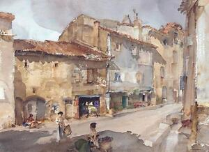 William Russell Flint THE STREET WITH THE SUNDIAL Art (Unsigned) Released 2005