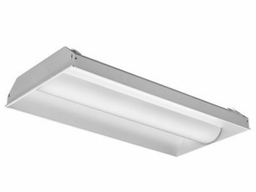 Lithonia Lighting Led Troffer Fluorescent Light Recessed Ceiling Fixture 2x4 Ft