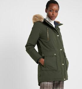Michael Kors XL Jacket Coat Ivy Green Missy Faux Fur Trim ...