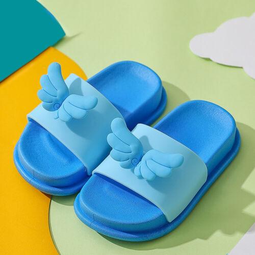 KIDS GIRLS CHILDRENS SLIP ON MULE SLIDE CARTOON SLIPPERS SLIDERS SUMMER SANDALS