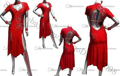 LATIN / SALSA / PARTY  DRESS WITH HIGH QUALITY STONES M269