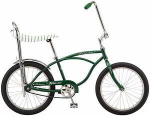 "Schwinn Stingray Sting Ray  Dealer bike 20"" slik banana seat Campus Green New"