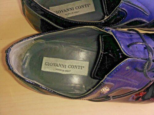 Conti taglia Stunning scarpe Giovanni Nero vernice 41 in lacci con e Uomo blu qwCdPR