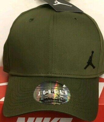 - One Size Olive New ~ 899657 395 Nike Jordan Metal Jumpman Cap