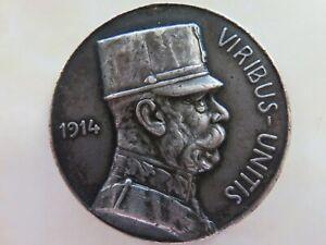 WW-1-Silver-Medal-German-Austria-Prussia-Kaiser-Wilhelm-II-and-Franz-Joseph-1