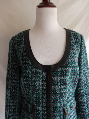 Garniture Noir Tweed Bleu Veste En Vert Ismall Taille Charnière Seattle Simili Cuir qxX188
