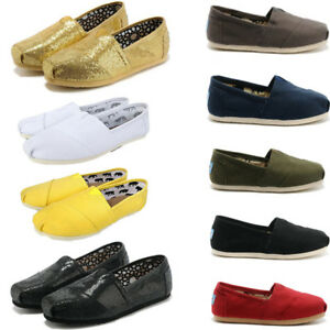 Fashion-Women-amp-Men-Classics-Flats-Shoes-Canvas-Unisex-Slip-On-Loafers-TOM
