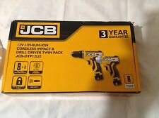 JCB 12V Cordless Combi Drill Impact Driver Twin Pack Li-Ion  Carry Bag