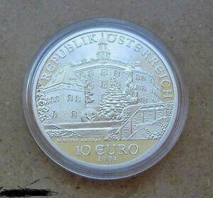 silbermunze-10-Euro-Osterreich-925-Silber-Schlos-Ambras-2002-lose-in-munkapsel