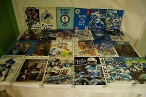 RARE-LOT-BY-NFL-DETROIT-LIONS-24-MEDIA-GUIDE-PROGRAM-PRESS-BOOK-FOOTBALL