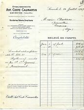 Alte Rechnung 1929 französisch Frankreich Lacanche Cote-d´Or Coste-Caumartin
