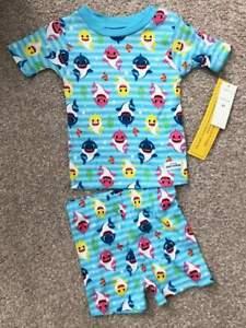 Baby-Shark-NWT-Toddler-Boys-Two-Piece-Pajamas-Sleepwear-2T