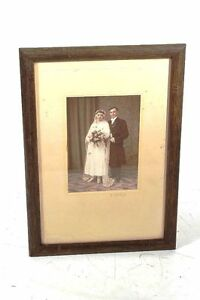 Very-Beautiful-Age-GDR-Picture-Frame-Wood-With-Picture-33-x-23cm