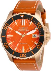Invicta-25646-Pro-Diver-Men-039-s-45mm-Tin-Bronze-Rose-Tone-Orange-Dial-Automatic