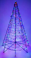 6' Ft. Metal Frame Artificial Christmas Holiday Tree w/ 450 Multi-Color Lights