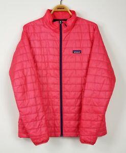 Patagonia-Nano-Puff-Jacket-Womens-sz-XL-red-insulated-full-zip-coat-84216-199