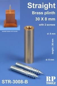 Straight-Brass-Plinth-Pedestal-Stand-h-30mm-bottom-dia-8mm-upper-dia-8mm