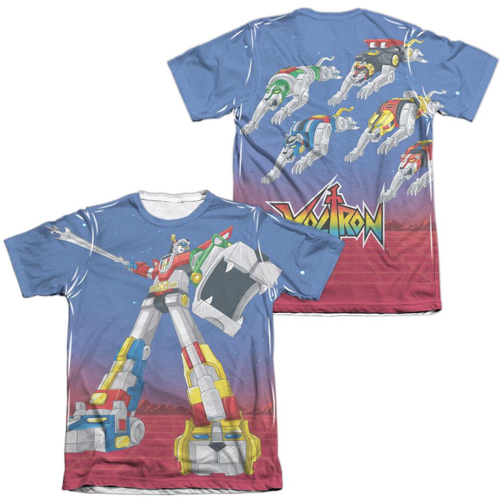 VOLTRON FORM VOLTRON Sublimation Licensed Men's Graphic Tee Shirt SM-2XL