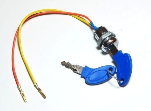 2 Wire Ignition Key Switch ATV Moped Scooter Go Kart Electric Mini Pocket Bike