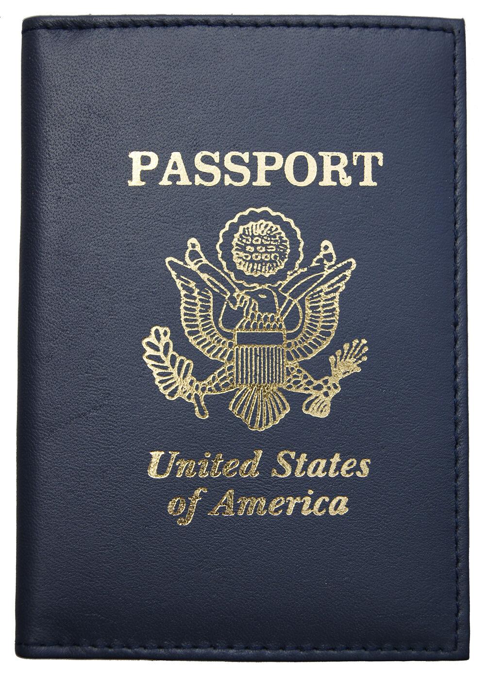 Zlu Oil-painting-mermaid-street-rye-east Leather Passport Holder Cover Case Travel One Pocket