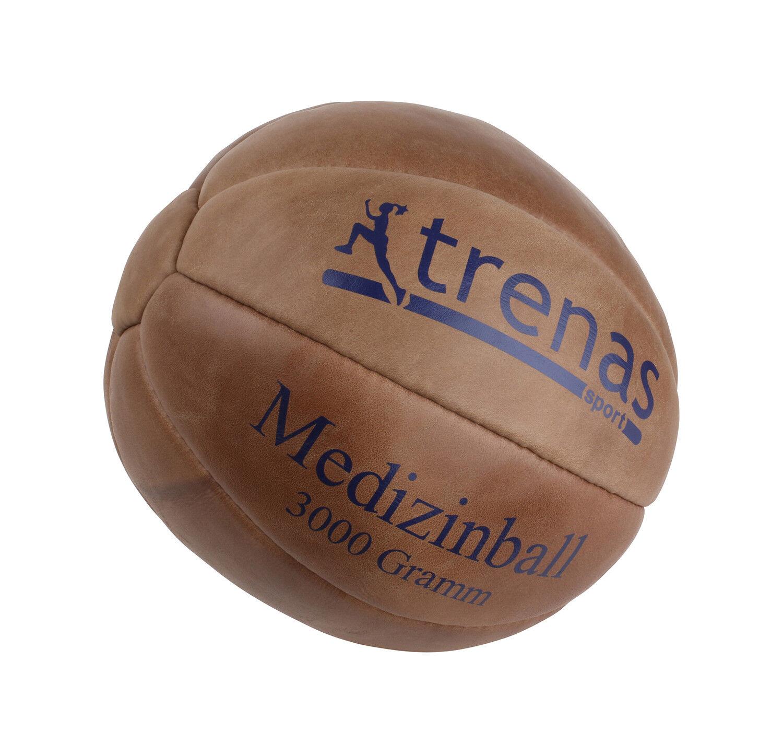Trenas Medizinball aus Leder 1 2 3 4 4 4 5 kg - 800 - 1500 Gramm Ledermedizinball 80c8cb