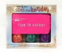 China Glaze - Holiday 2016 Seas The Holiday- Set Of 3 Bottles X .5 Oz Free Tag