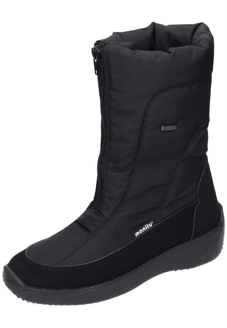 Manitu Bottes Bottes D'Hiver Femmes Chaussures Noir Taille 36-42 990986 -1 neu1