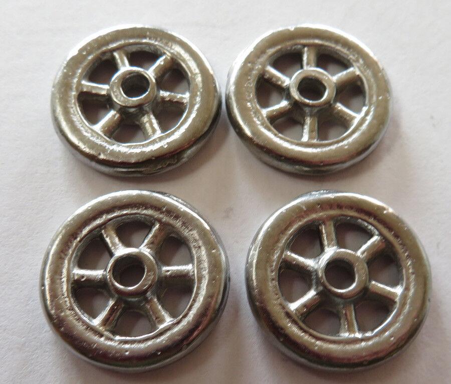 Arcade 4 cast metal  spoke wheels 7 8  diameter cheaper by four