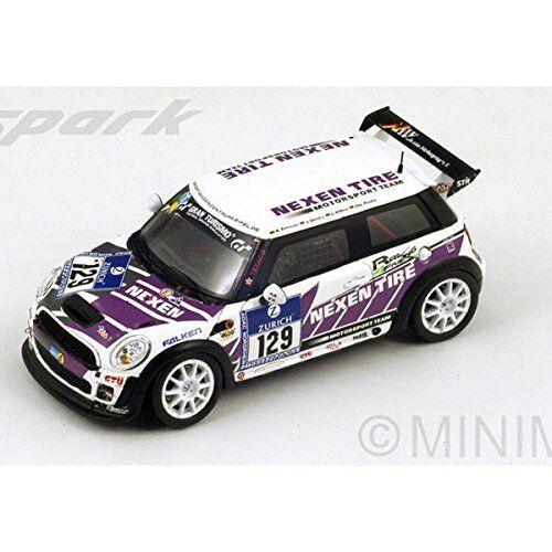 Mini Cooper Jcw # 129 Le Mans Nurburgring 2013 R.zensen Spark 1:43 Sg097