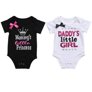 a3c854f22c94b Newborn Baby Twin Little Girl Mom Dad Princess Bow Funny Matching ...