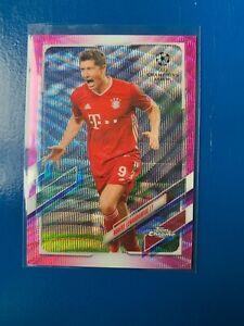 Topps Champions League Chrome 2020/21 Robert Lewandowski Pink X-Fractor