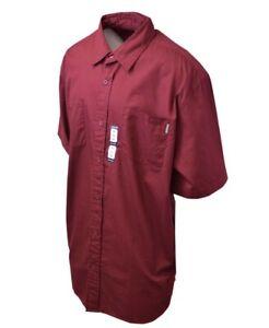 Carhartt-Men-039-s-S11-Wine-Red-S-S-Woven-Shirt-XL-3XL-Retail-40