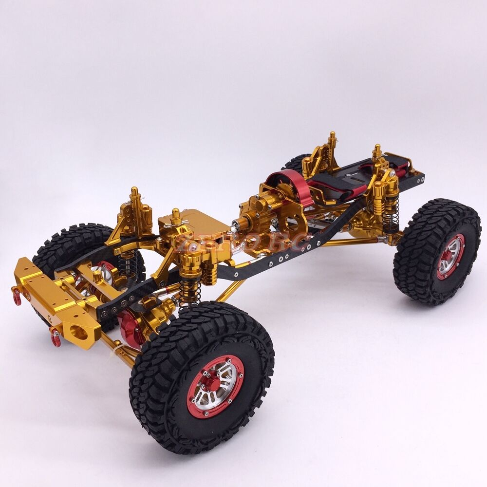 Cool  Rock Crawler CNC aluminio Axial SCX10 chasis 313mm distancia entre ejes de oro
