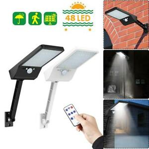 48LED-Solar-PIR-Motion-Sensor-Wall-Light-Outdoor-Yard-Street-Lamp-Remote-Control