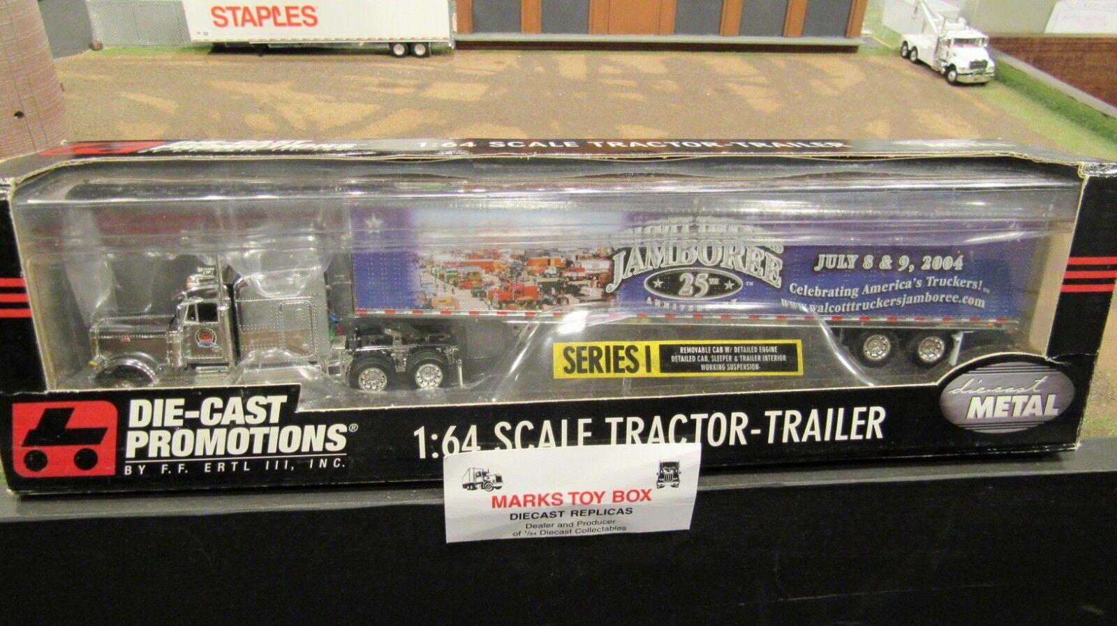 DCPI80 Truck Stop Walcott Cromo Pete 379 Semi Camión Van Trailer 1 64 FC