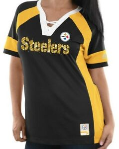 53fe1931 Details about NEW! NFL PITTSBURGH STEELERS Majestic Draft Me Size M Top  Women's T Shirt BLING