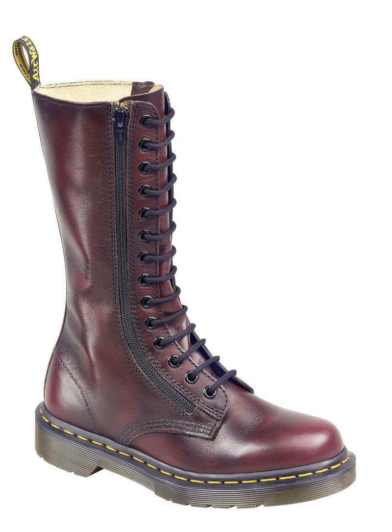 Dr Martens doc 14 agujero doble ZIP 9733 red vintage 11305600 el original