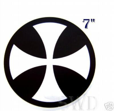 """Mooneyes Black Iron Cross Decal Sticker Stickers Maltese Equipped 5/"""" VW Camper"""
